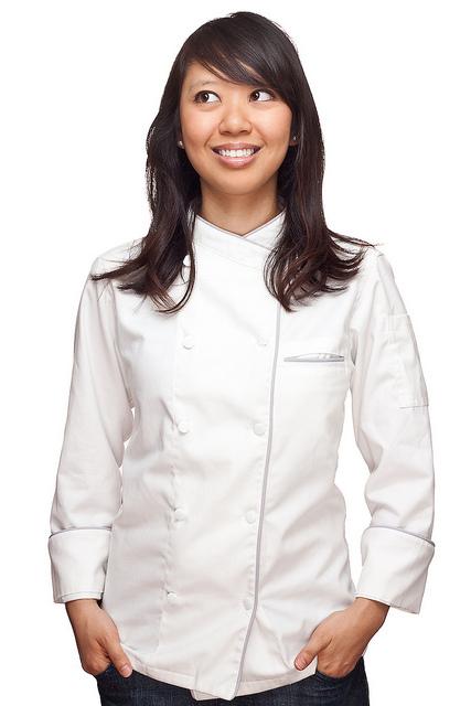 weiße Kochjacke