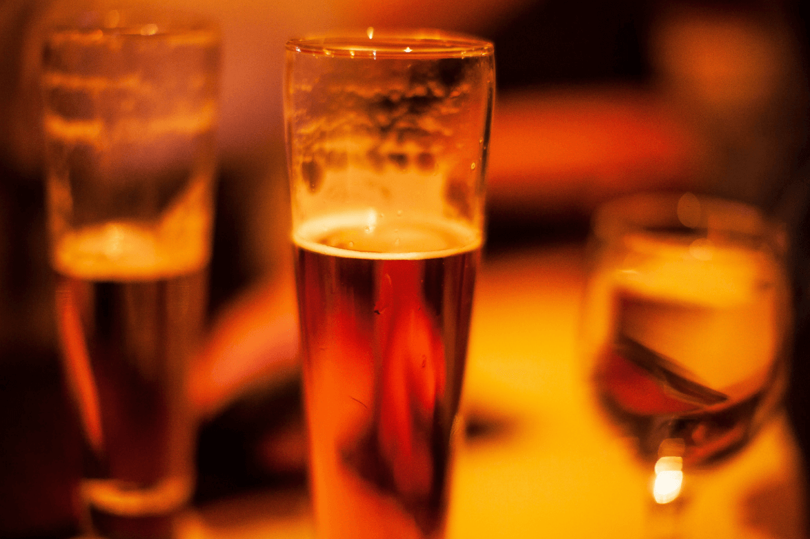 Bier nach der Arbeit ist gesund