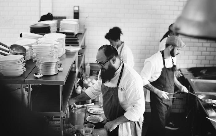 Gastronomen Freizeit Kollegen